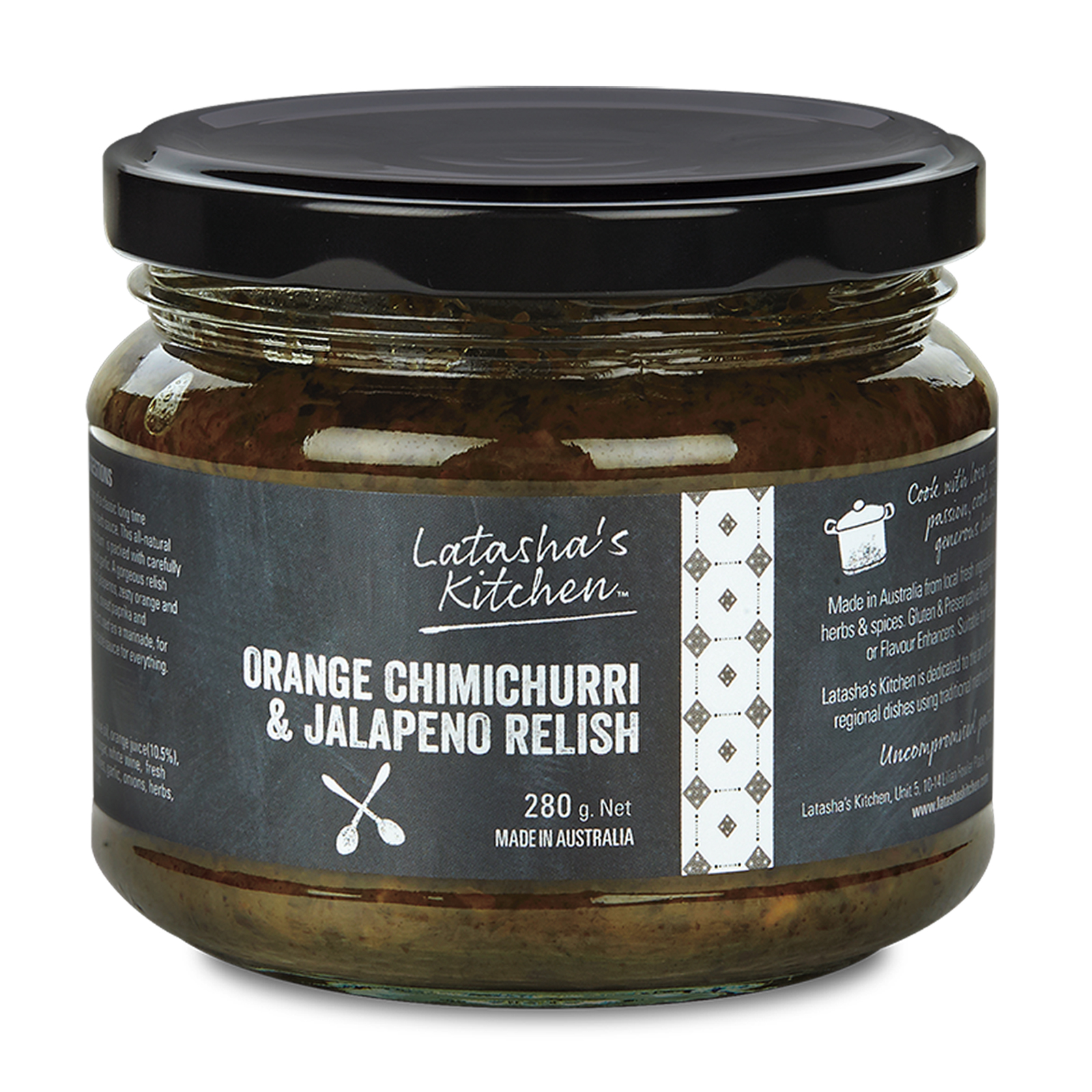 Orange Chimichurri Jalapeno Relish by Latasha's Kitchen