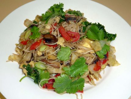 Simple Thai Red Vermicelli Rice Noodles