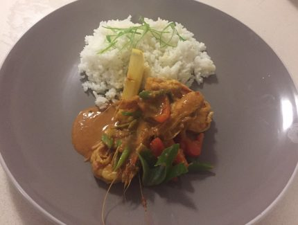 Prawns and Red Capsicum Curry