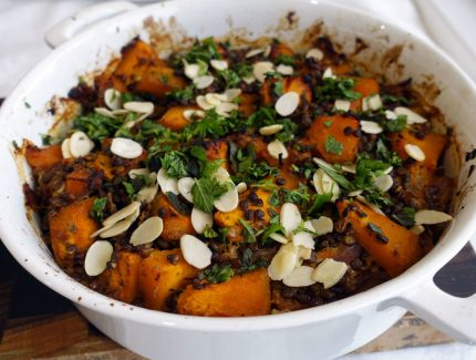 Tray Roasted Pumpkin and Lentil Korma Curry