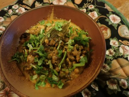 Fresh Paneer Butter Makhani with Chickpeas and Peas