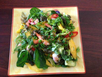 Green Chimichurri Mango Prawn Salad