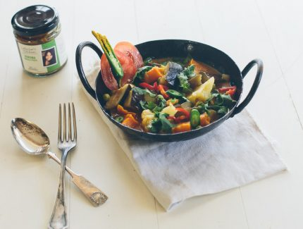 Korma Cauliflower, Potato, Beans, Carrot & Peas Stew