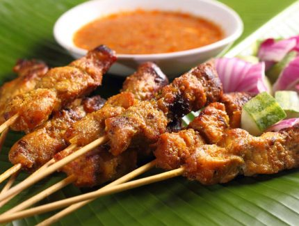 Malaysian Satay Chicken Skewers