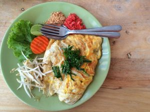 Thai green curry omelette