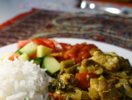 Indonesian Turmeric Chicken and Veggie Curry