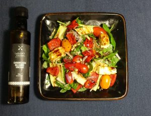 cropped salad with balsamic