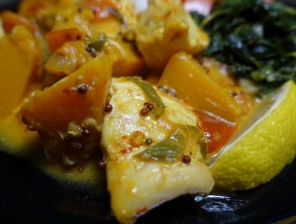 Spicy Fish and Pumpkin Curry