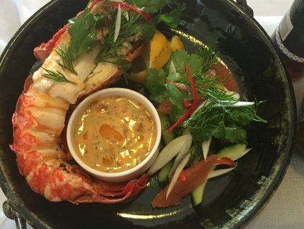 Crayfish (Lobster) with Chilli Onion Dipping Sauce