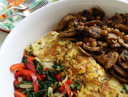 Biriyani mushrooms and chickpeas