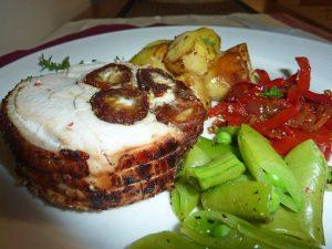 Chutney roast chicken roll seasoned with Latasha's Kitchen Date and Tamarind Chutney