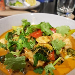 Singapore Chicken Curry Laksa using Latasha's Kitchen Laksa Paste