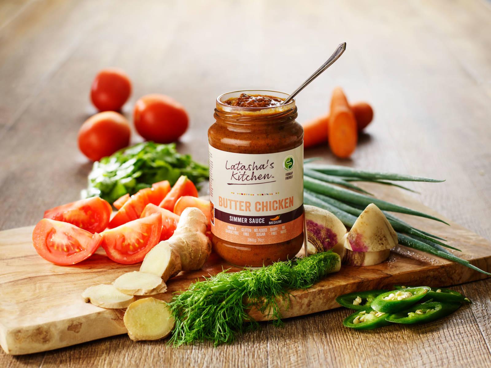 Low FODMAP Simmer Sauces - Butter Chicken by Latasha's Kitchen